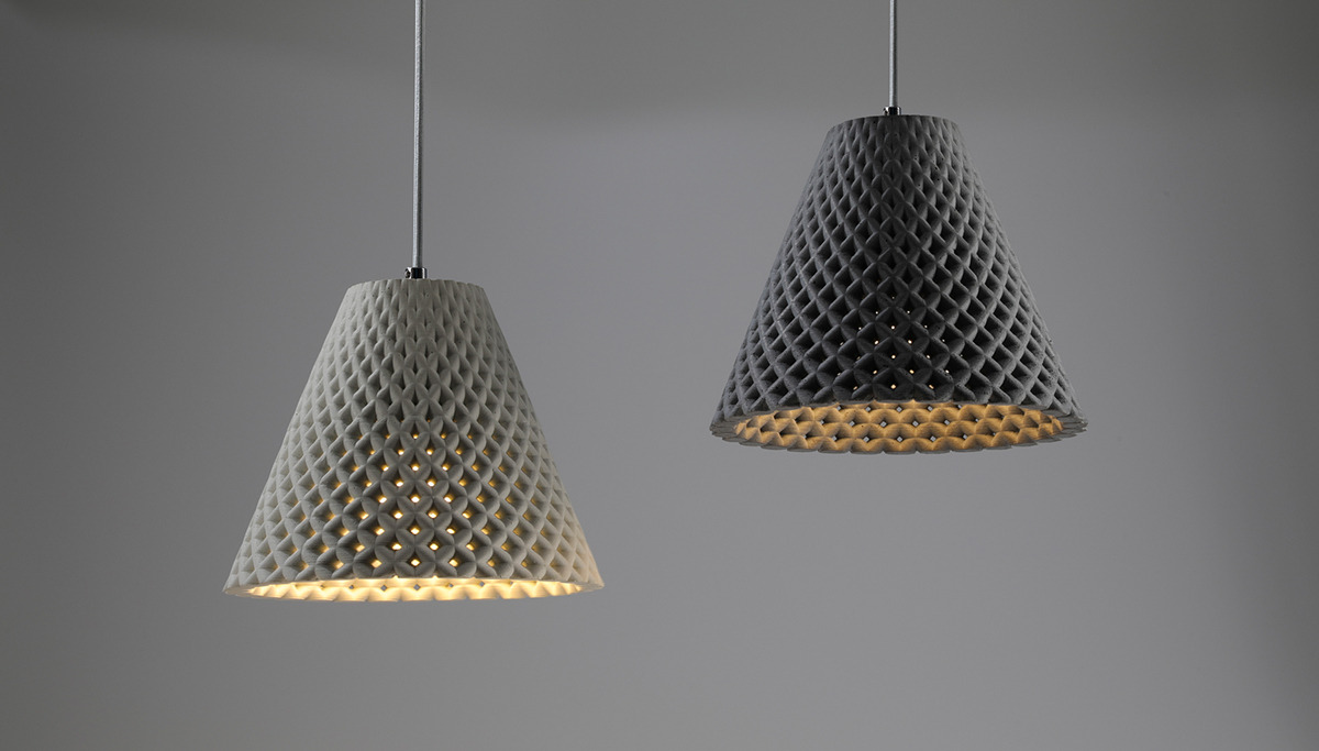 170363441836 – dror kaspi helia concrete mesh light fixture